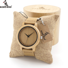 BOBO de AVES Amantes A0910 Minimalista Japonés Miyota Movimiento de Cuarzo Reloj Relojes de Madera Hechos A Mano De Bambú