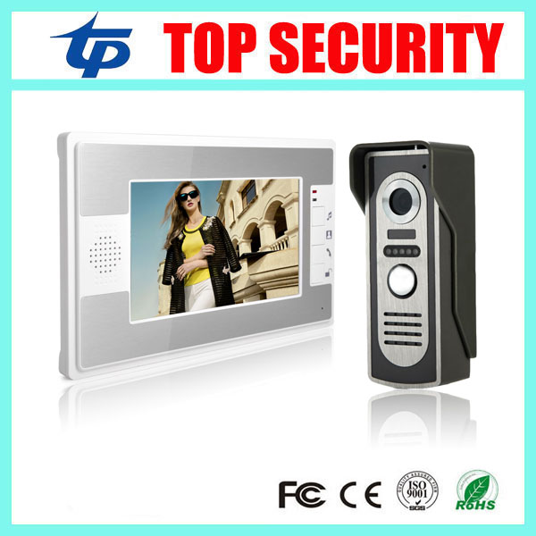 Здесь продается  New arrival 7 inch color screen video door phone door intercom system IR night version wired door bell 16 rings video door phone  Безопасность и защита