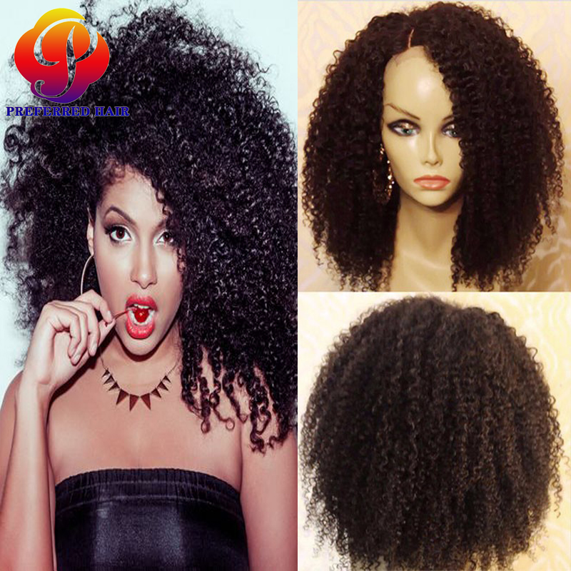 Sew In Kinky Curly Wig Human Hair Lace Front Bob Wigs