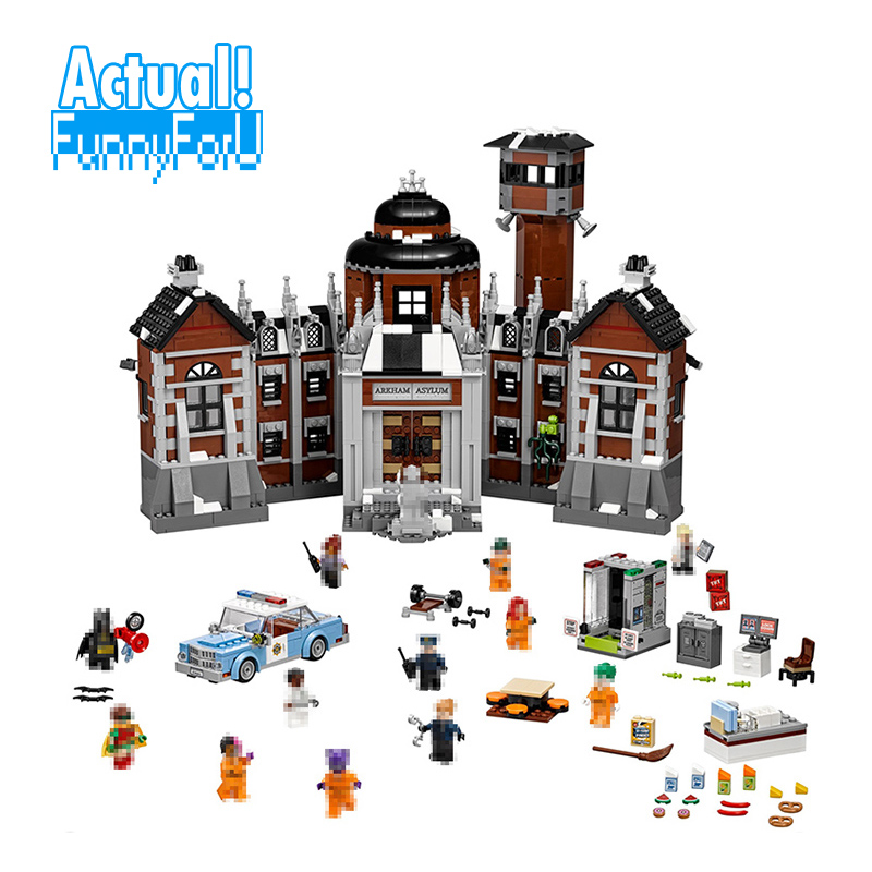 Lepin 07055 Marvel Super Heroes Batman Movie 1743Pcs Arkham Asylum Building Blocks Bricks hot fun Toys for children 70912 single star wars super heroes marvel ninja wu master building blocks models bricks toys for children kits brinquedos menino