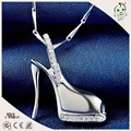 Popular High-heeled Shoes Design 925 Sterling Silver Pendant For Ladies