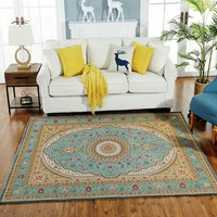 Big size retro traditional Persian carpet ,big size vintage living room rug , machine weaved coffee table mat