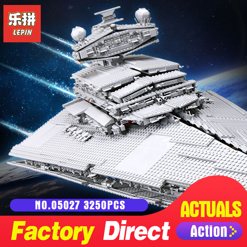 Star Classic Lepin 05027 Emperor Fighters Starship Model Building Kits Blocks Diy Bricks Toys for boys LegoINGlys 10030 Wars 2017 hot 05027 3250pcs star fighters starship model building kit blocks bricks assembling toy compatible with 10030 wars