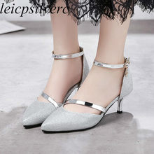 cd124088acbc Women s Pumps High Heels Shoes Spring Autumn 2018 Sexy Fashion Pointed Toe  Bling Casual Party Wedding Office Black Gold Silver