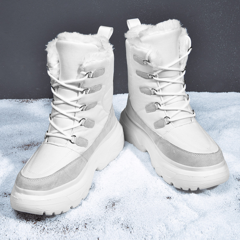 Intelligent Warme Männer Winter Stiefeletten Marke Lace Up Winter Männer Schuhe Hohe Qualität Männer Schuhe Winter Stiefel Schnee Stiefel