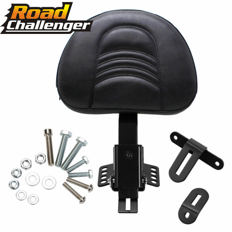 Backrest Kit For Harley Touring Electra Road Street Glide Road King 97-17 Motorcycle Adjustable New Plug In Driver Rider Seat