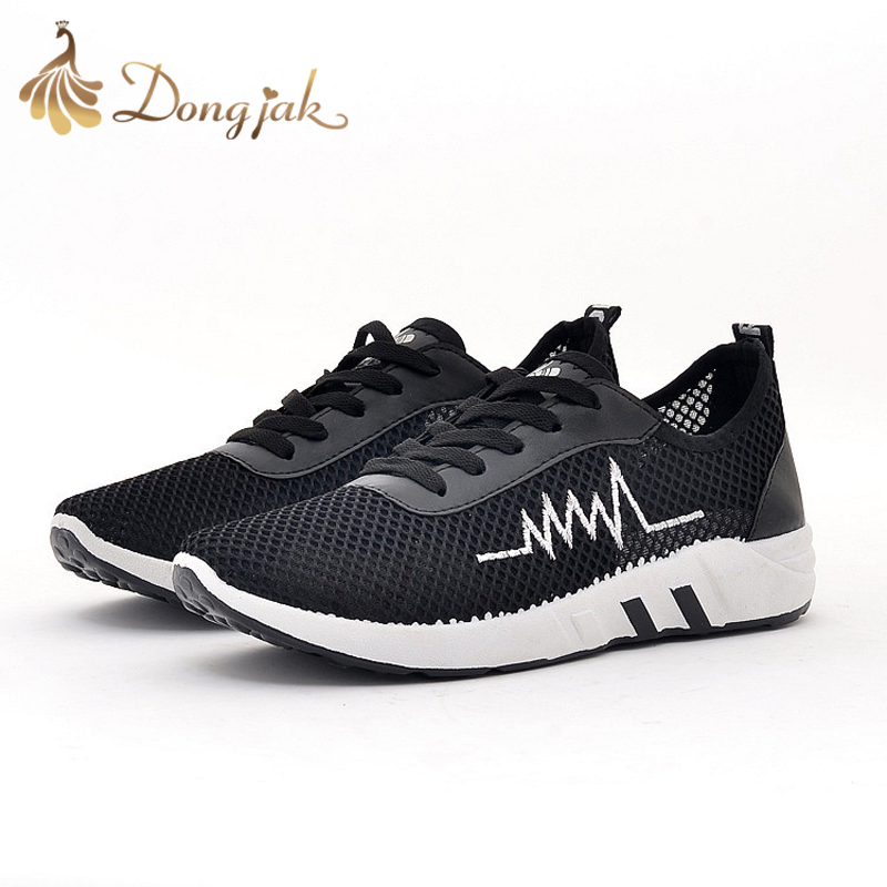 Dongjak Hot 2017 Women Sneakers Men Breathable Sport Shoes Female Running Shoes Light Sneakers for Women Shoes 39-44 Euro N201-1