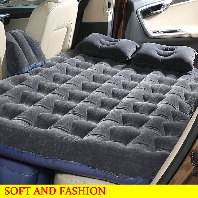 Car Back Seat Cover Inflatable Mattress Auto Travel Bed Air With Pump Outdoor Camping