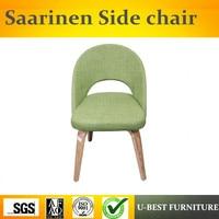 Free shipping U BEST Dining Room Replica Designer chair Modern Fiberglass Upholstered Fabric Saarinen chair