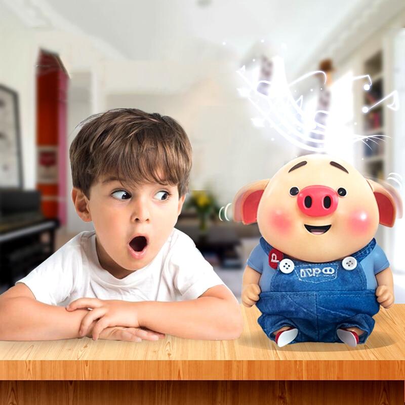Cochon année cadeau parle cochon petit pet jouets pour enfants langue intelligente détails incarner beauté comestible Grade plastiques presse clé dire Ming.