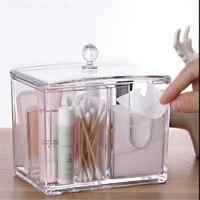 Transparent Crystal Acrylic Cotton Swabs Storage Box Cosmetics Sample Lipstick Cotton Pads Creative Desktop Storage Boxes