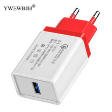 YWEWBJH USB Charger Quick Charge 3.0 Mobile Phone EU Travel Wall Adapter For iPhone Samsung