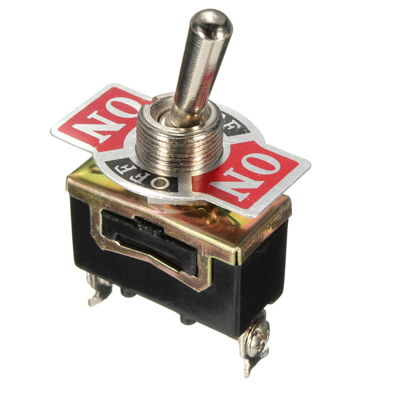1x 12V Black 3-Pin Toggle SPDT ON-OFF-ON Switch 15A DC 12V/AC 250V Mini Switches kn3d 103 ac 12v 25a 3 pins on off on 3 ways 1p2t spdt toggle switch replacement