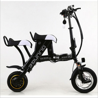 Mini Folding Electric bicycle Citycoco Electric scooter 500W/48V Lithium battery Electric bike Electric motorcycles