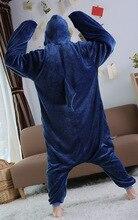 2018 New Winter Unisex Adult Pajamas Blue Shark Onesie Sleepwear Cosplay Costume Animal Nightwear Onesie Sleepwear For Men Women