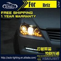 АКД стайлинга автомобилей фара для Toyota Reiz фар 2006-2009 Марк X светодиодные фары DRL H7 D2H HID Вариант Ангел глаз bi xenon луч