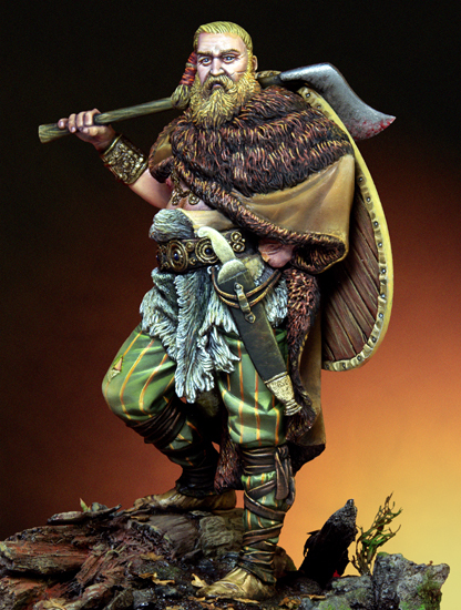 Scale Models  1/24 75mm Germanic Warrior 75mm  figure Historical WWII Resin Model Free Shipping