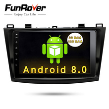 Funrover 9″ Android 8.0 2 din car multimedia stere for Mazda 3 gps navigation Mazda 3 maxx Axela Radio RDS Mirror-link Bluetooth