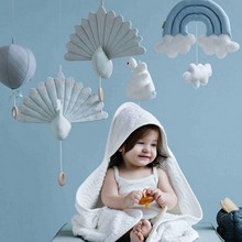 2017 INS Handmade Soft Plush 3D Peacock Toys Stuffed Dolls Baby Hanging Mobile Toys For Cribs