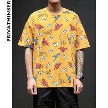 da82cbcd86d6 Privathinker 2018 5XL Mens Tshirts Harajuku Dinosaur Print T-shirt Male  Casual Funny Tshirt Summer