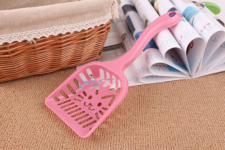 New Pet Products Shovel Cat Litter Plastic Scoop Cat Sand Cleaning Dog Food Spoons Cat sand shovel Pet Supplies PH45 (2)
