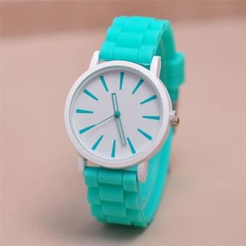 Geneva Kobiet zegarka candy colored jelly silicone watch women Casual Quartz Watch Ladies Girl Sports Watches Relogio Feminino Women Quartz Watches