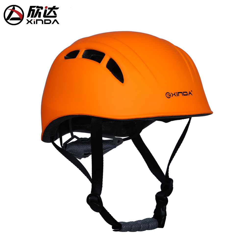 Xinda Outdoor Adjustable Helmet Climbing Equipment Expand Helmet Hole Rescue Mountain Climbing Helmet Protective Safety Helmet in Helmets from Sports Entertainment