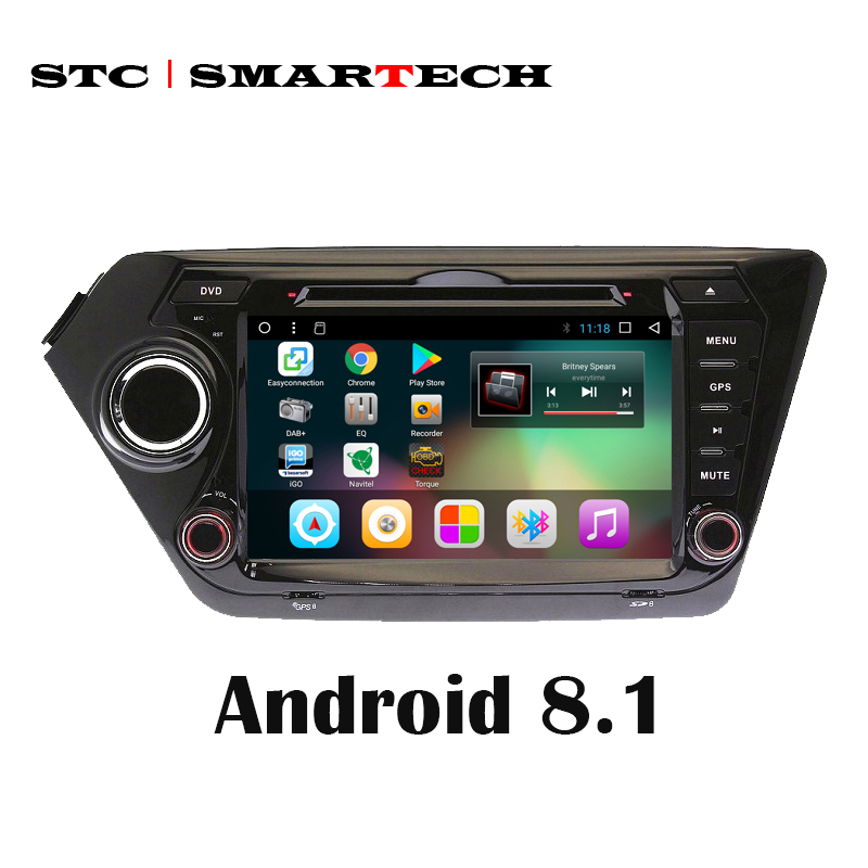 SMARTECH 8 inch 2 Din Android 8 1 Car Radio GPS Navigation For KIA RIO K2