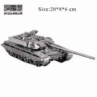 Nano Stainless Steel 3D Metal Puzzles Model For Adult Child Jigsaw China Main Tank T99 Educational Toys Collection Birthday Gift