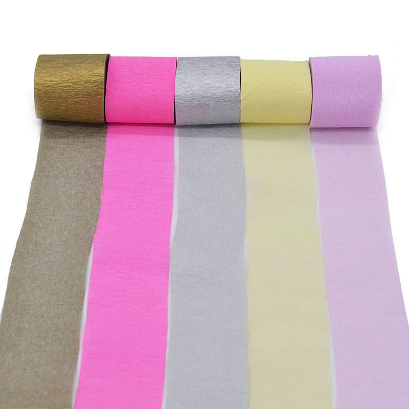 1Pcs 5cm*10m Crepe Paper Streamers Multicolor Paper Roll DIY Flower Making Birthday/Wedding Party Decoration Baby Shower