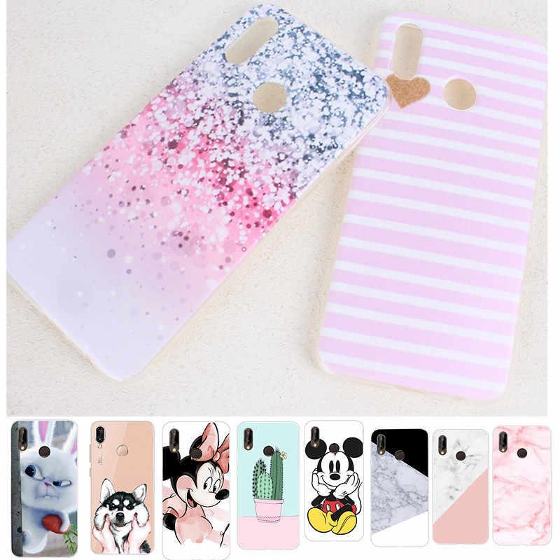 Animal lindo Minnie mármol silicona funda trasera suave TPU para Huawei Mate 10 P20 Lite P 20 Pro P20Lite Capa cajas de teléfono de lujo