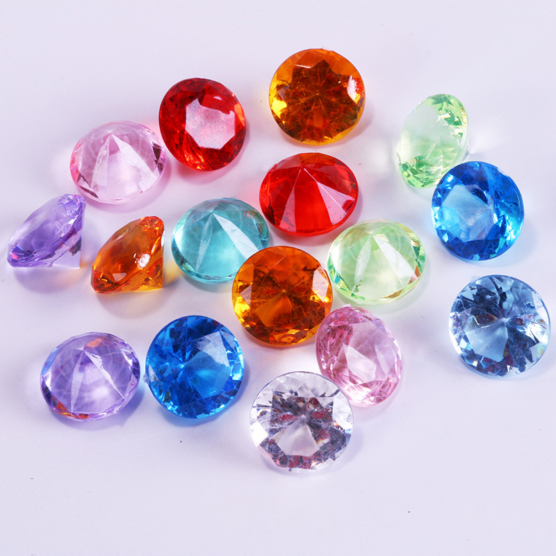 20Pcs Acrylic Plastic Diamond Shape Pawn Pieces For Token Board Games Counter Accessories,10 Colors,diameter 2cm
