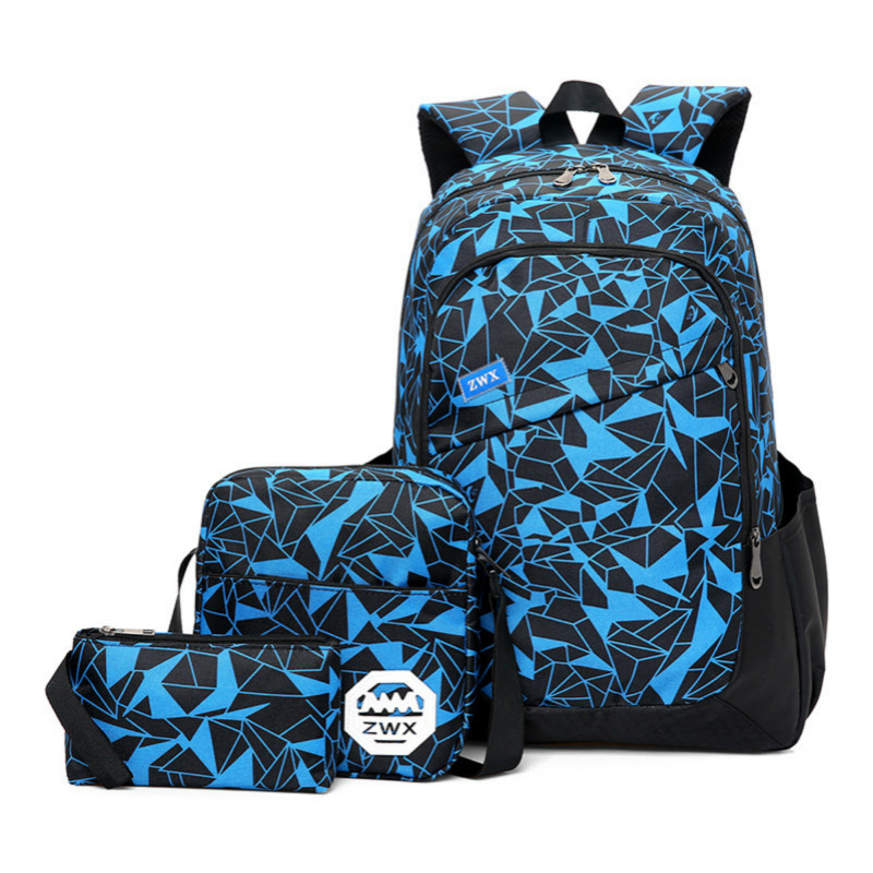 High School Student 3 Sets Bagback Waterproof Rucksack Laptop Backpack Travel Schoolbags Sac A Dos Satchel Mochila Capacity Bags new 65l nylon large capacity multifunctional backpack high quality waterproof travel bags designer rucksack sac a dos mochila