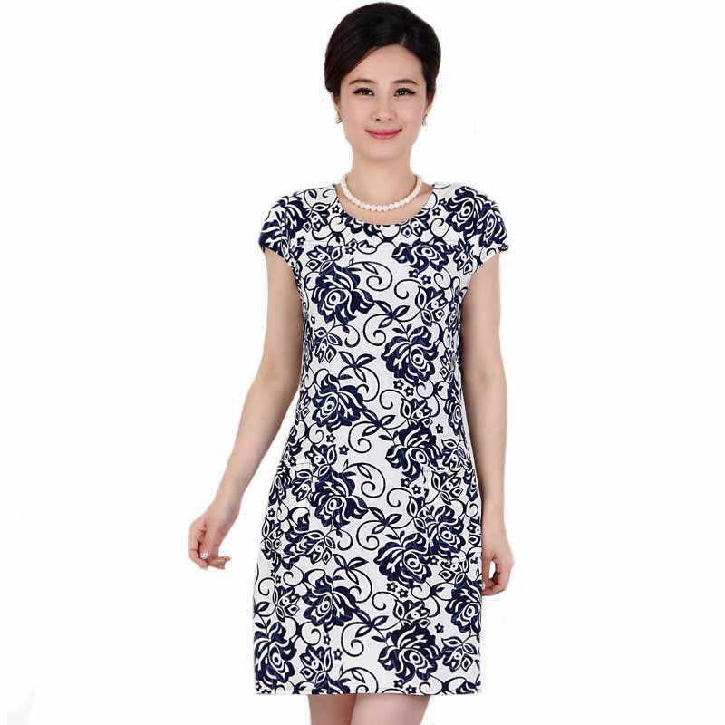 5d34c87cf52 L-4XL новые модные женские туфли летнее платье Тонкий туника молочные  шелковые принтованные Платья с