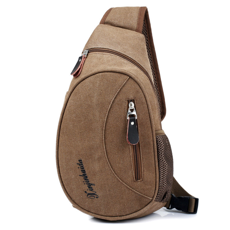 Men/'s Canvas Shoulder Bag Chest Pack Handbag Casual Travel Messenger Bag