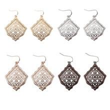 ZWPON 2019 Kyrie Bright Gold Unique Fan Shape Filigree Earrings Women Famous Brand Designer Jewelry KS Wholesale