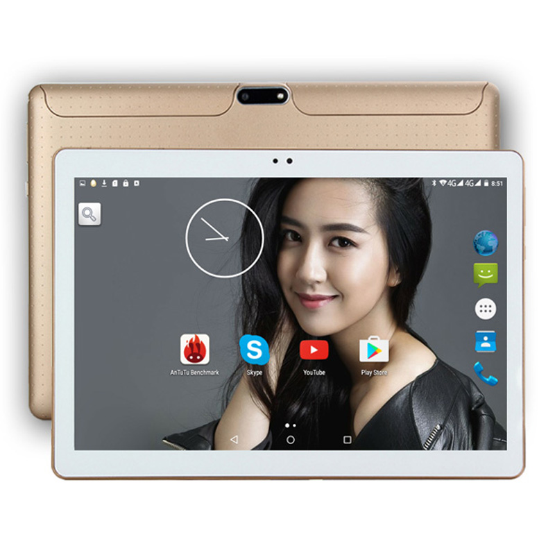 DHL Free 10 Inch Tablet PC 3G 4G LTE  Octa Core 4GB RAM 64GB ROM Dual SIM 5.0MP Android 8.0 GPS 1280*800 IPS Tablet PC 10″+gifts