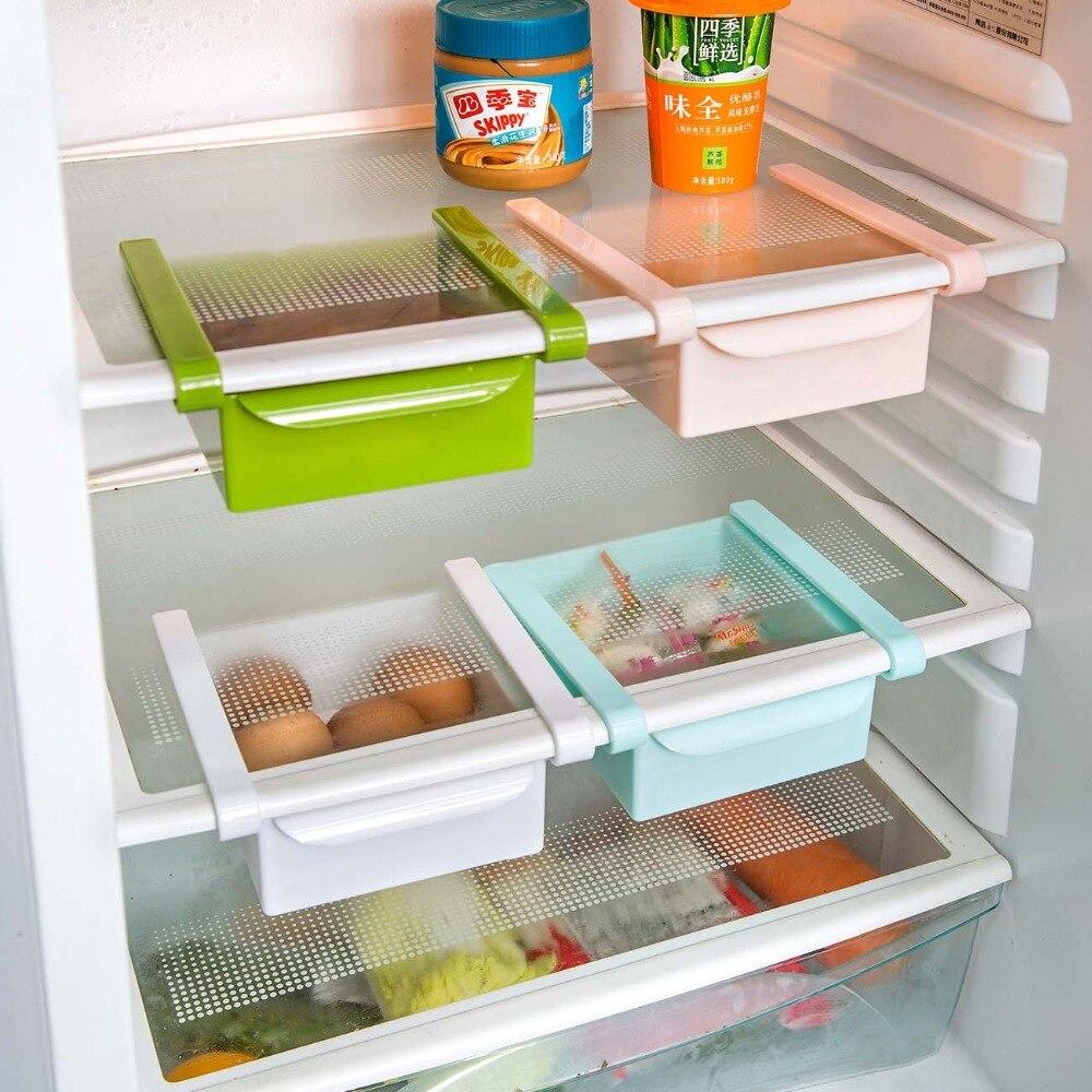 OTHERHOUSE Refrigerator Kitchen Storage Box Rack Shelf Fridge Freezer Organizer Shelf Holder Kitchen Accessories  Space Saver