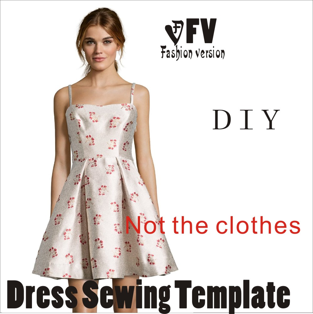 The dress Dresses Sewing Pattern cutting drawing BLQ 30-in Sewing ...