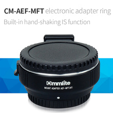 Commlite Digital AF built-in IS Lens mount adapter EF-M4/three for Canon EOS EF/EF-S lens to Panasonic Olympus M4/three Mount Cameras