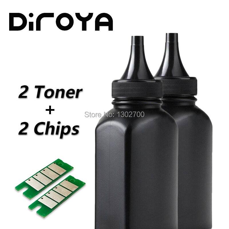 2 Fles Toner + 2 Chip Voor Ricoh Sp150 Sp 150 Sp150su Sp150w Sp150suw Sp150 Su Sp150 W Sp150 Suw Sp 150su Laser Printer Poeder