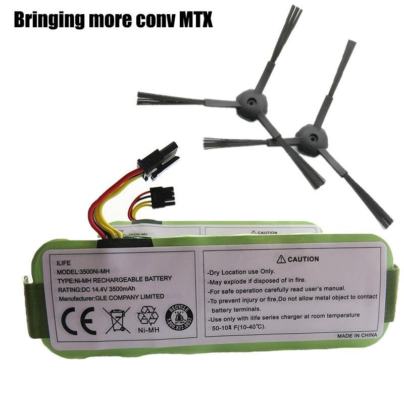 Batteries For Ecovacs Cr120 Dibea Panda X500 X580 Kk8 Haier Sweeping Robot 14.4v 3500mah Ni-mh Rechargeable Vacuum Cleaner Battery Power Source