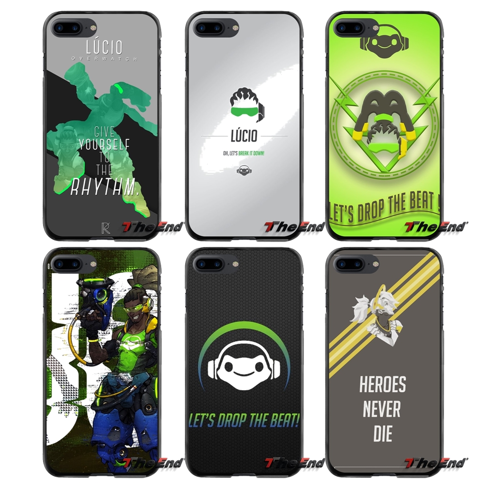 Accessories Phone Shell Covers Overwatch OW Character lucio For Apple iPhone 4 4S 5 5S 5C SE 6 6S 7 8 Plus X iPod Touch 4 5 6