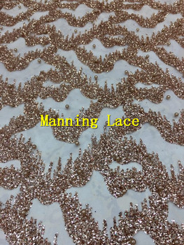 fashion  african glitter lace fabric for party dress 5yard/lot embroidered tulle lace with glued glitter
