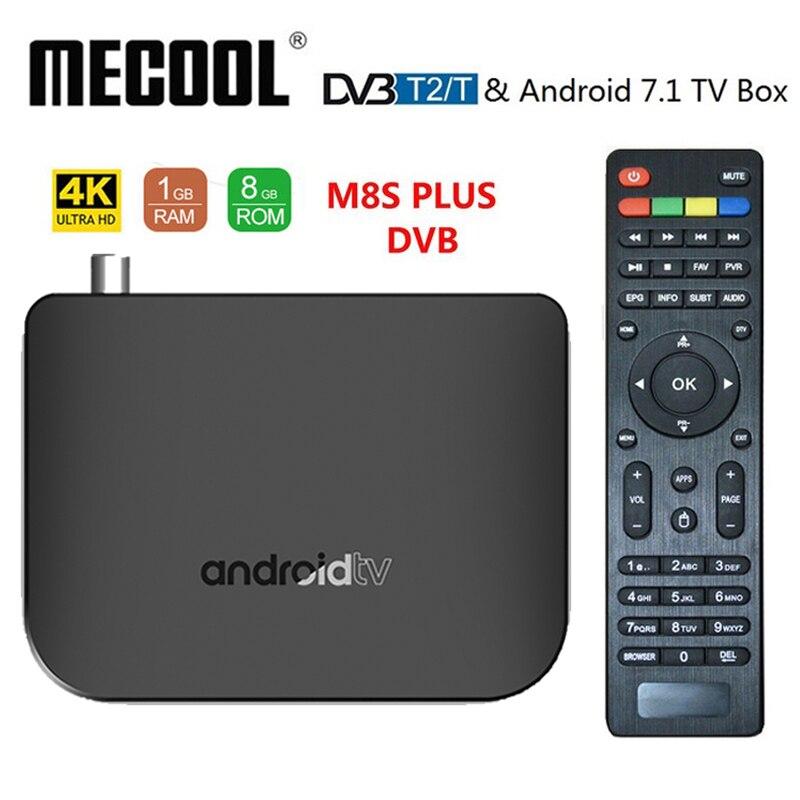 Mecool M8S PLUS DVB T2 T Android 7 1 smart TV Box Amlogic S905D 1GB ROM