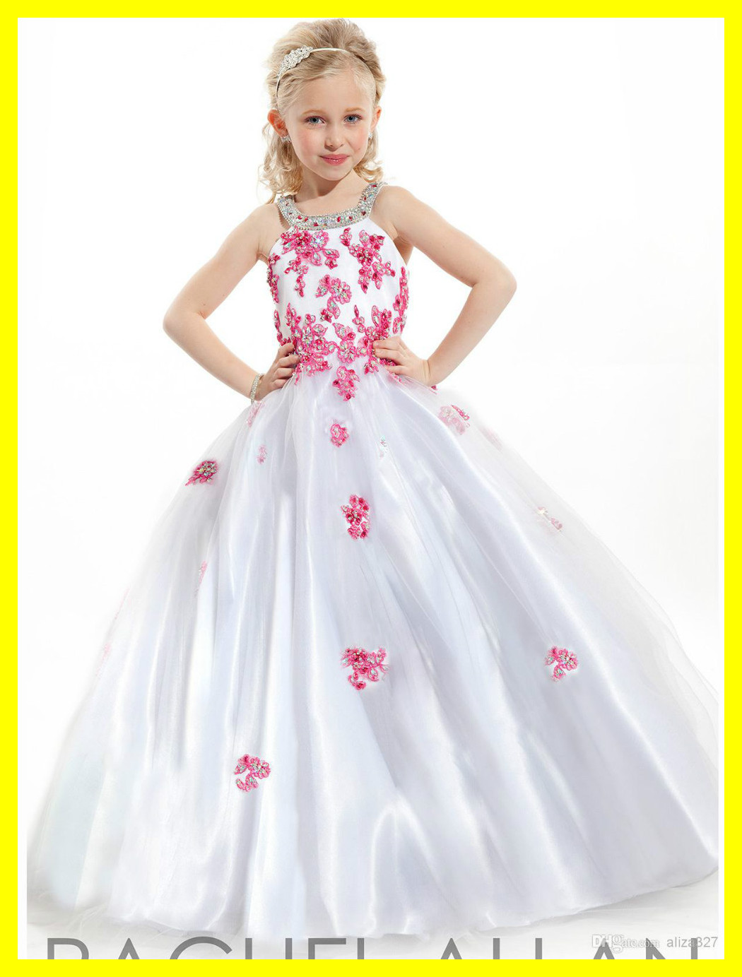 Cheap Flower Girl Dresses Under Ivory Red Uk Months Dress Scalloped