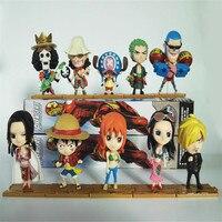 10pcs/lot Funko pop ONE PIECE Vinyl Doll MONKEY.D.luffy/Roronoa Zoro/Nami Child Birthday Gift Action Figure Model Collection