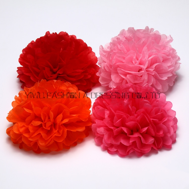 Aliexpress buy 29 colors avilable large tissue paper flowers large tissue paper flowers balls party decor 18inch45cm 2piecelot handmade paper pom pom free shipping from reliable ball stretcher suppliers on mightylinksfo