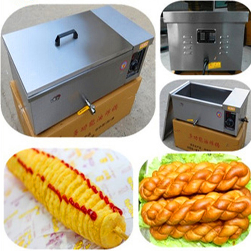 цена на Electric Potato Spiral Chips Fryer 12L   ZF