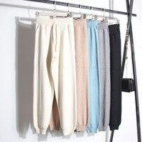Большие сумки, брюки редиска, брюки, пряжа ядра закрученная, трикотажные брюки шаровары, женские осенние 2018, новые свободные и тонкие брюки.